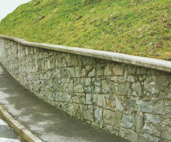 Muro prefabbricato rivestito in pietra naturale | FORMA Solai